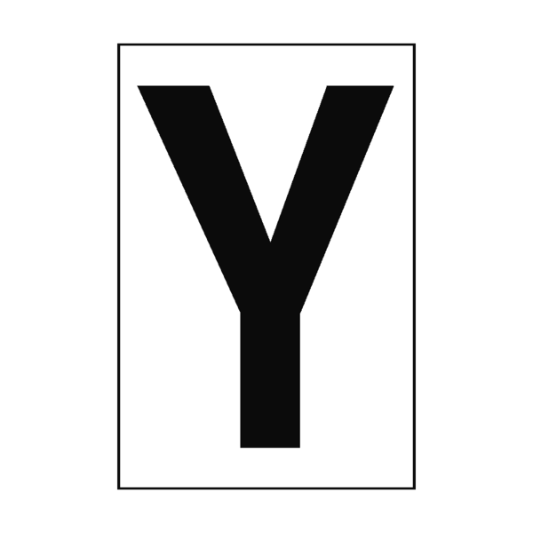 White letter png. Y sign pvc safety
