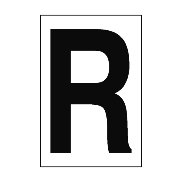 White letter r png. Sign pvc safety signs