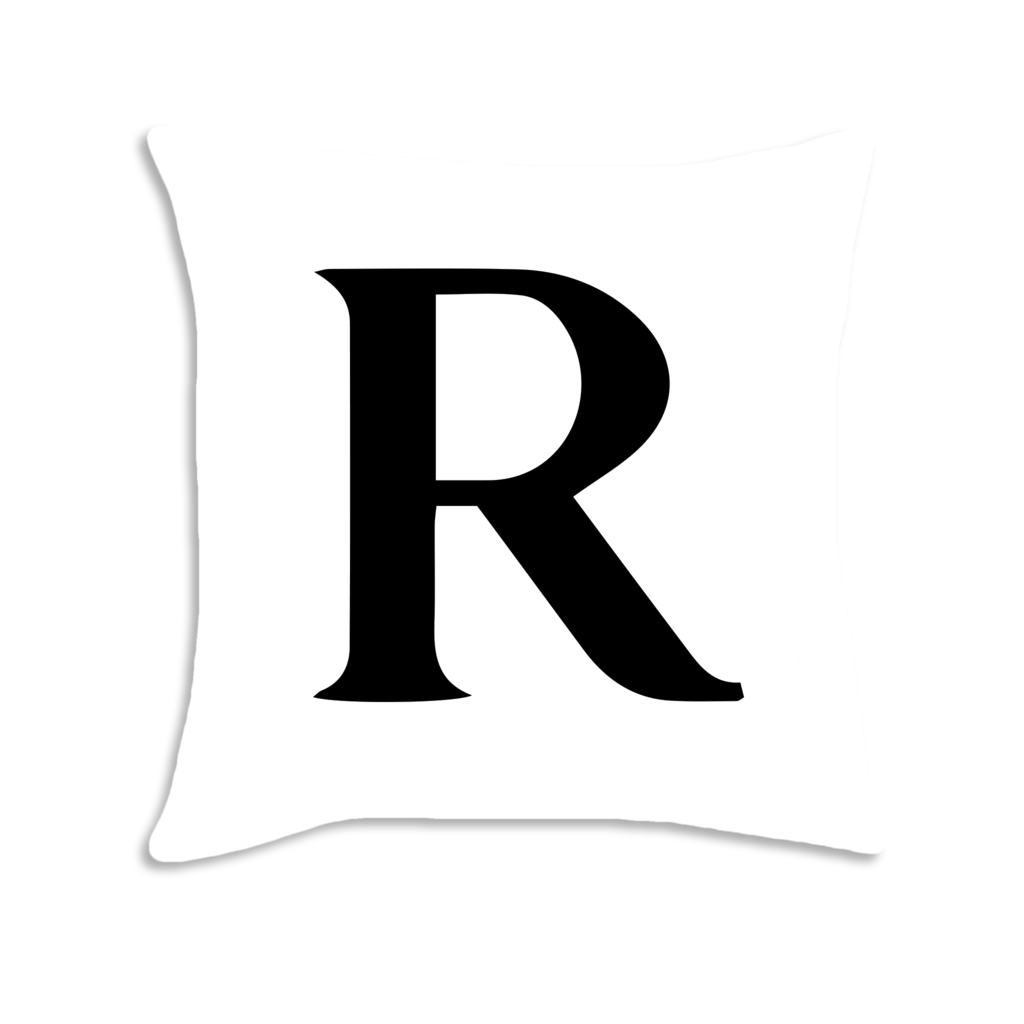 White letter r png. Serif font decorative throw