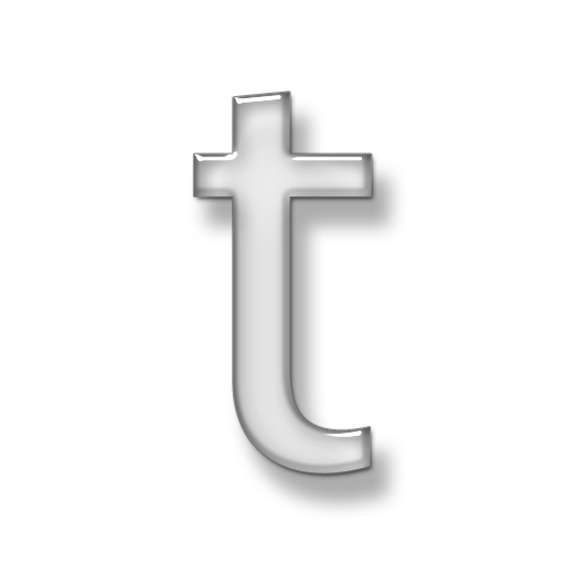 T transparent. Letter icon image free