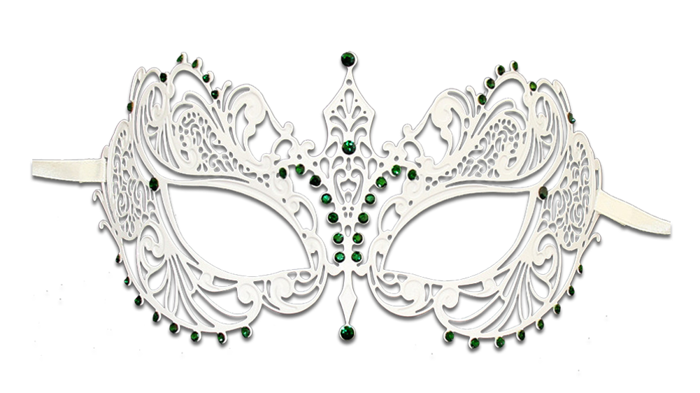 WHITE Series Laser Cut Metal Venetian Pretty Masquerade Mask