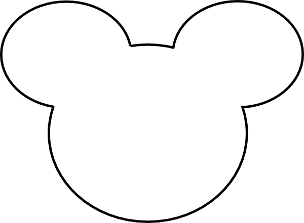 Free download clip art. Mickey mouse head outline png svg