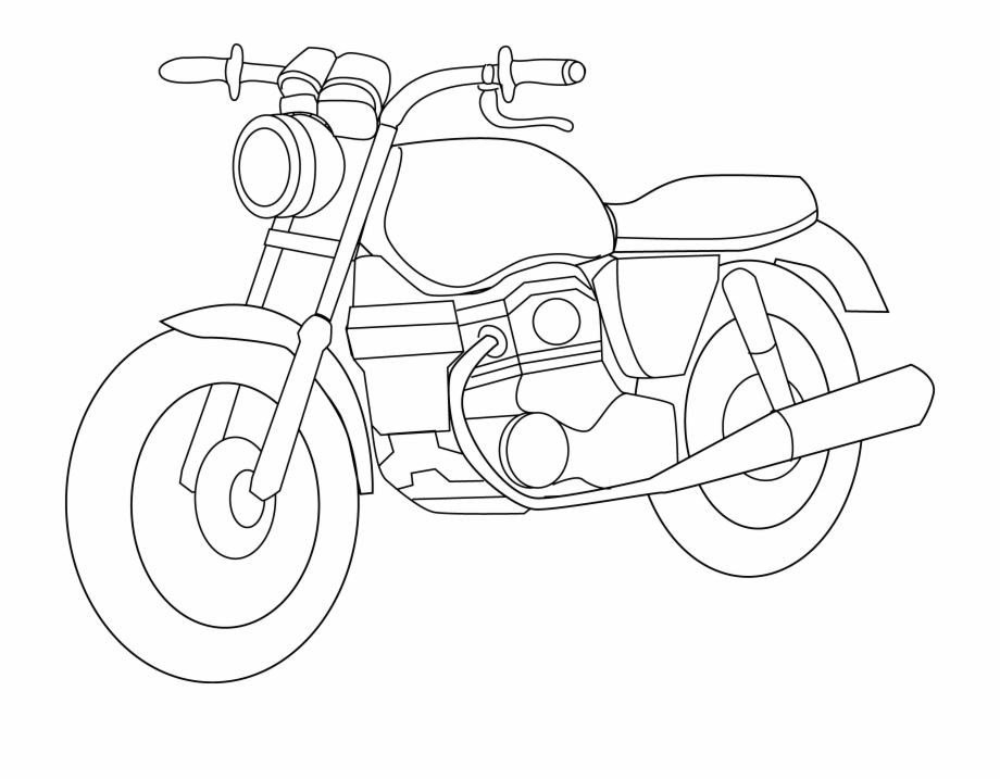 White motorcycle. Honda clipart black and