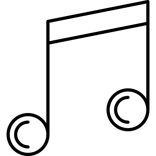 White music note png. Notes player quaver musical