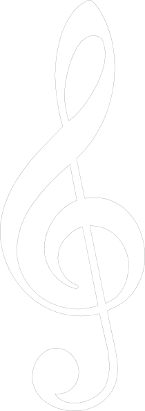 White musical notes png. Music note clip art