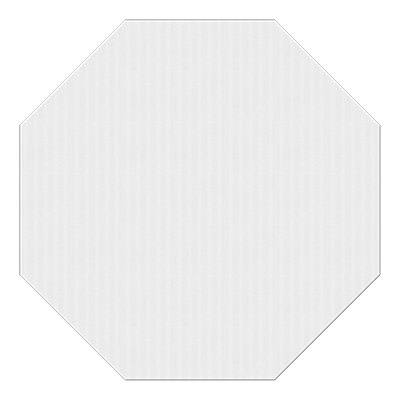 White octagon png. Corrugated plastic sign