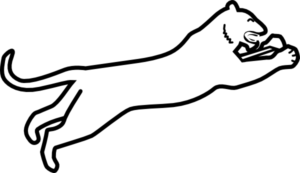 White panther logo png. Clipart