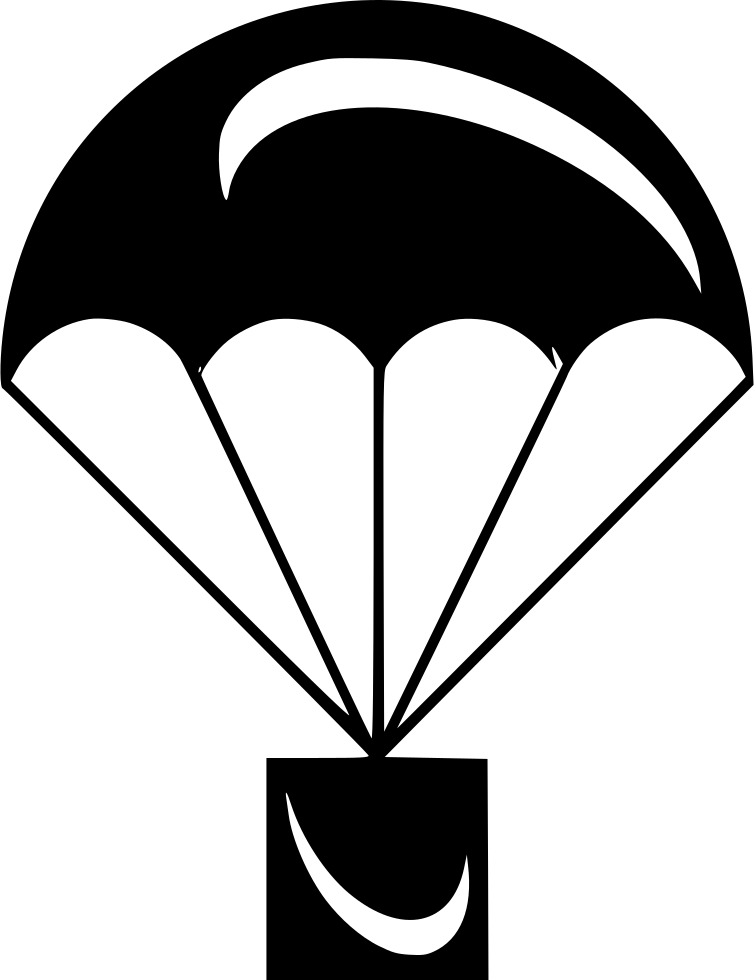 White parachute crate icon png. Svg free download onlinewebfonts