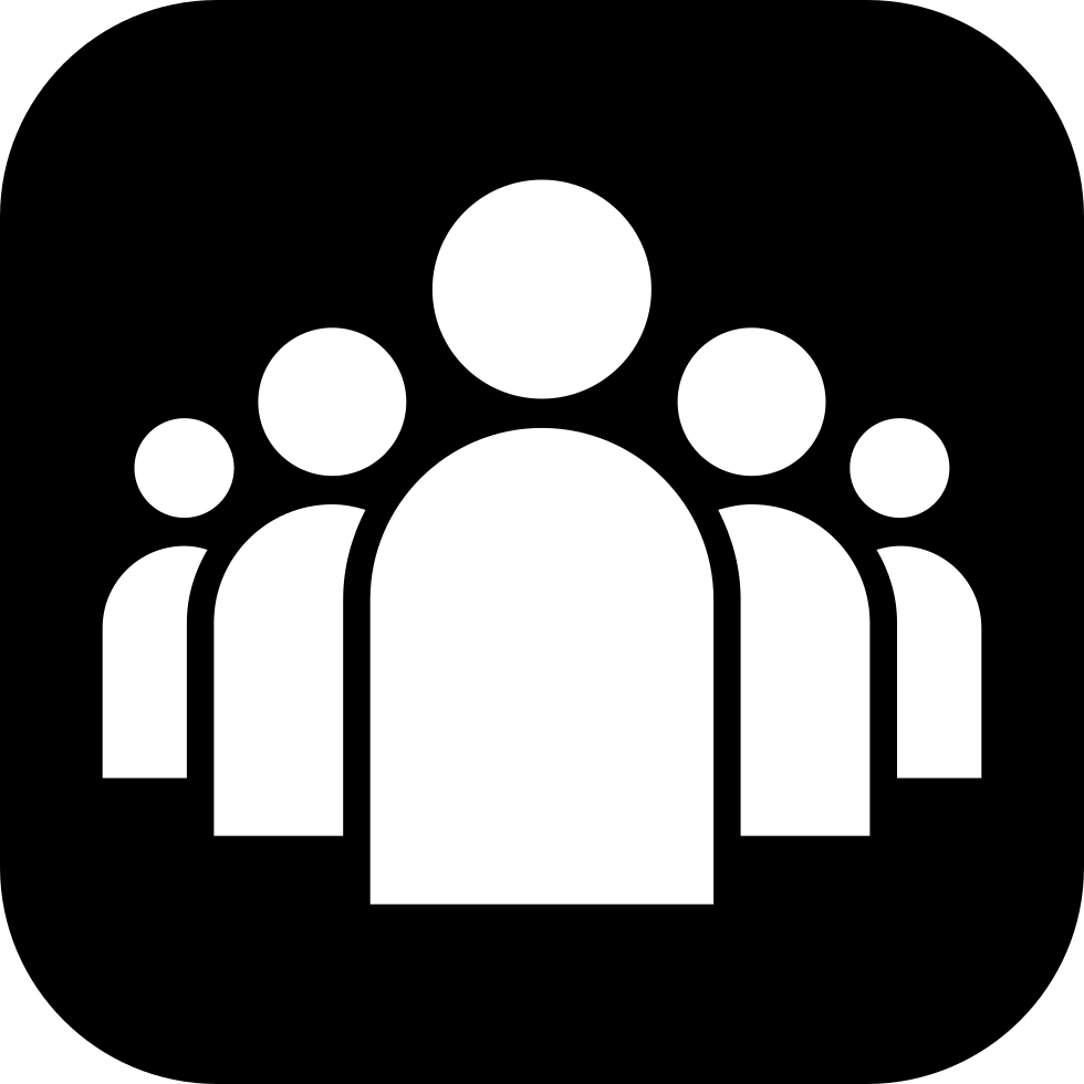 Group Of People In White A Black Rounded Square Svg Png Icon Free