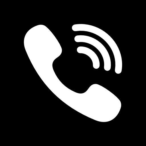 White phone icon png. Viber free social media