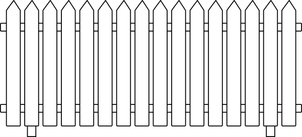 White picket fence png. Clip art at clker