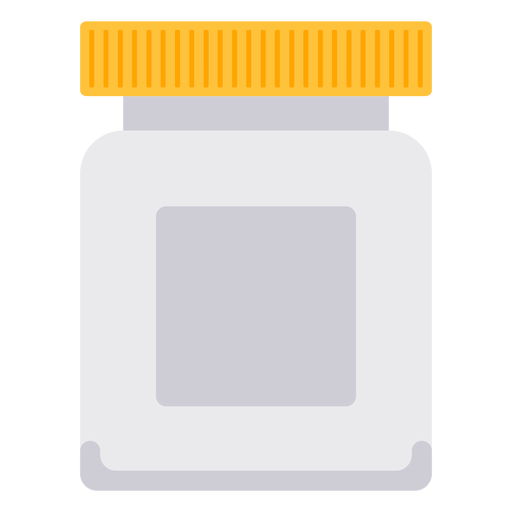 White pill bottle png. Icon transparent svg vector