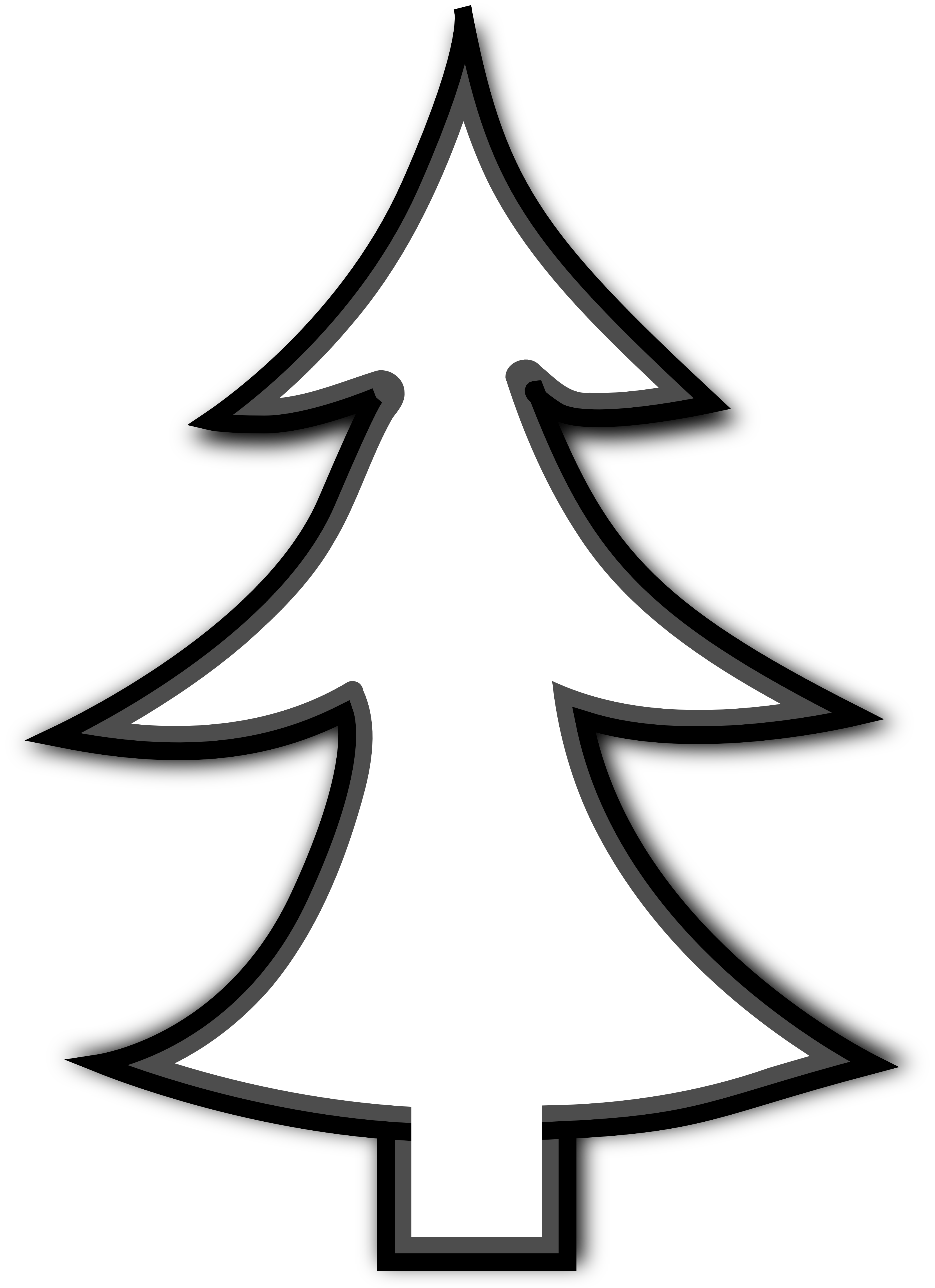 Pine tree silhouette at. Sharpener clipart black and white png free library