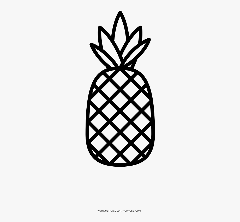 White pineapple. Coloring clipart outline