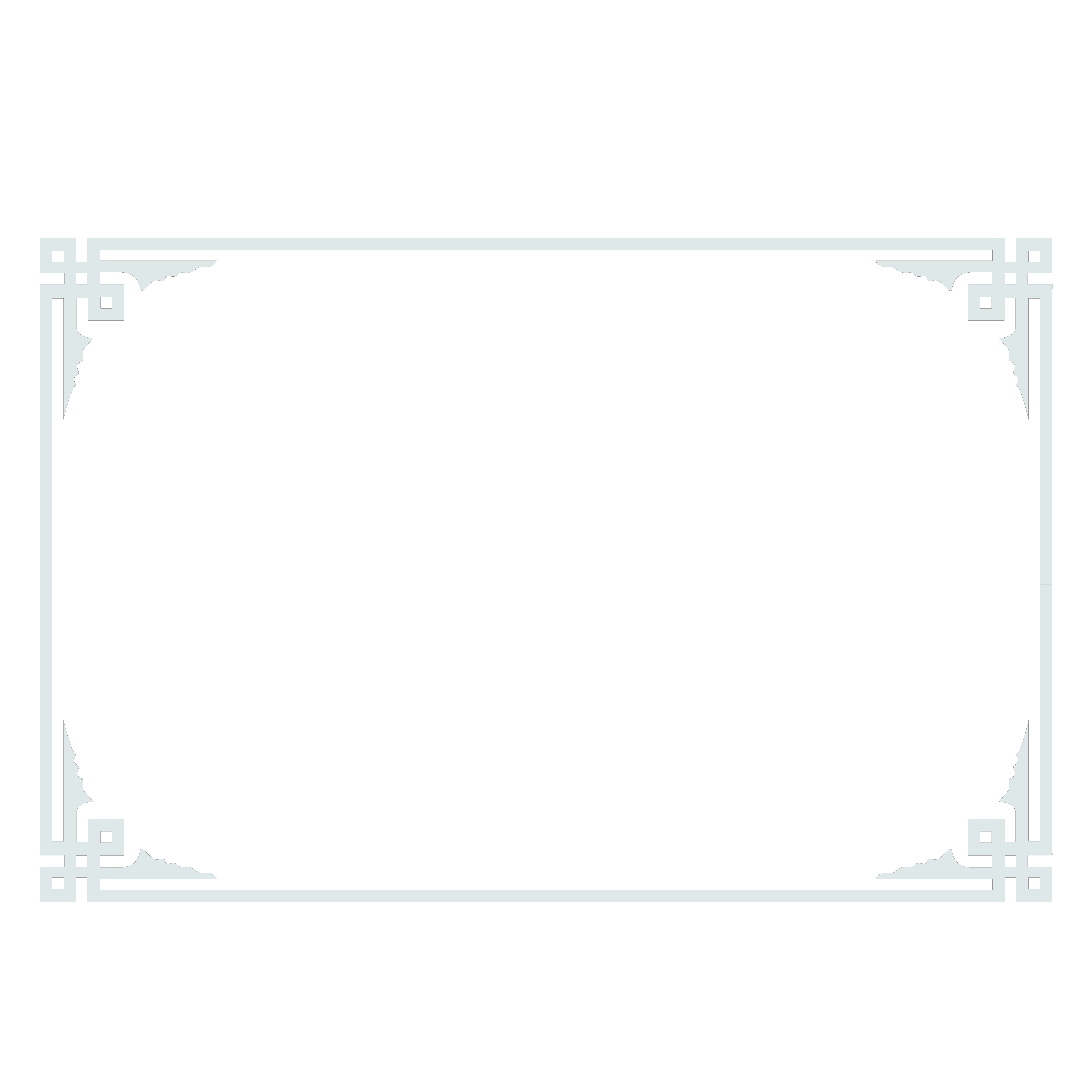 White png border. Black pattern certificate of