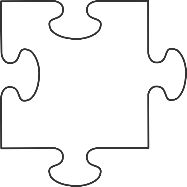 White puzzle piece png. Clip art at clker
