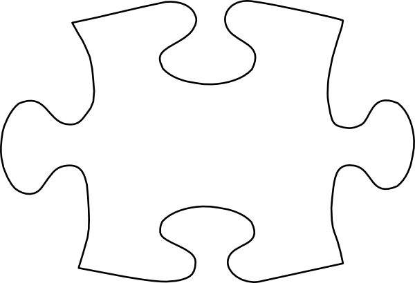 White puzzle piece png. Template jigsaw no shadow