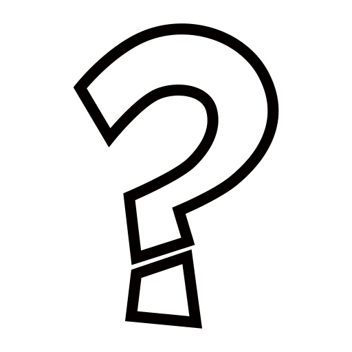 White question mark png. Ornament emoji for facebook