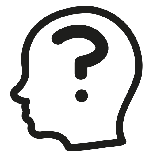 In head transparent stickpng. Question mark png white svg transparent