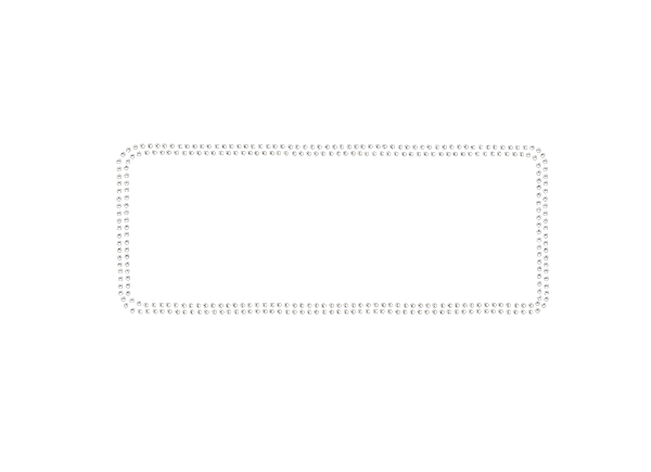 White rectangle border png. Double rhinestone outline arabian
