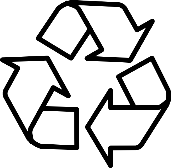 Recycling Symbol Outline Clip Art at Clker