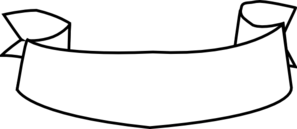 White ribbon banner png. Black and transparent clip