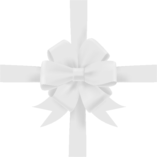 White ribbon bow png. Icon vector data svg