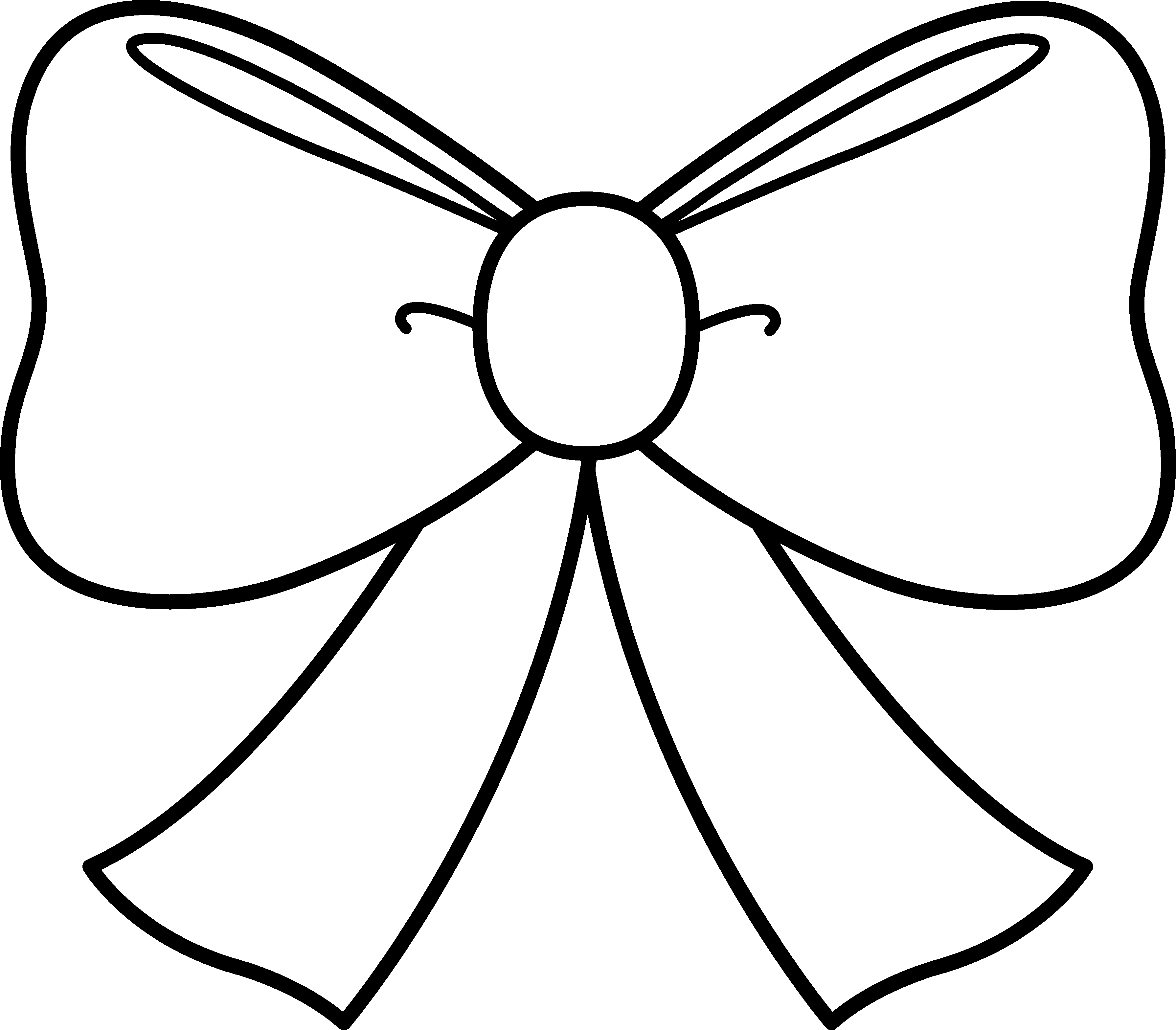 White ribbon bow png. Line drawing at getdrawings