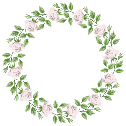 White rose border png. Download frame clipart photo