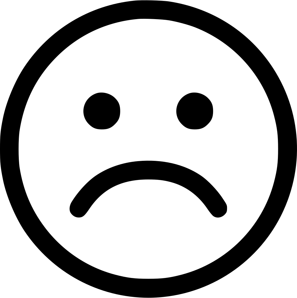 White sad face png. Sadness smiley computer icons