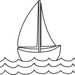 Black land yacht. Free coloring page clip