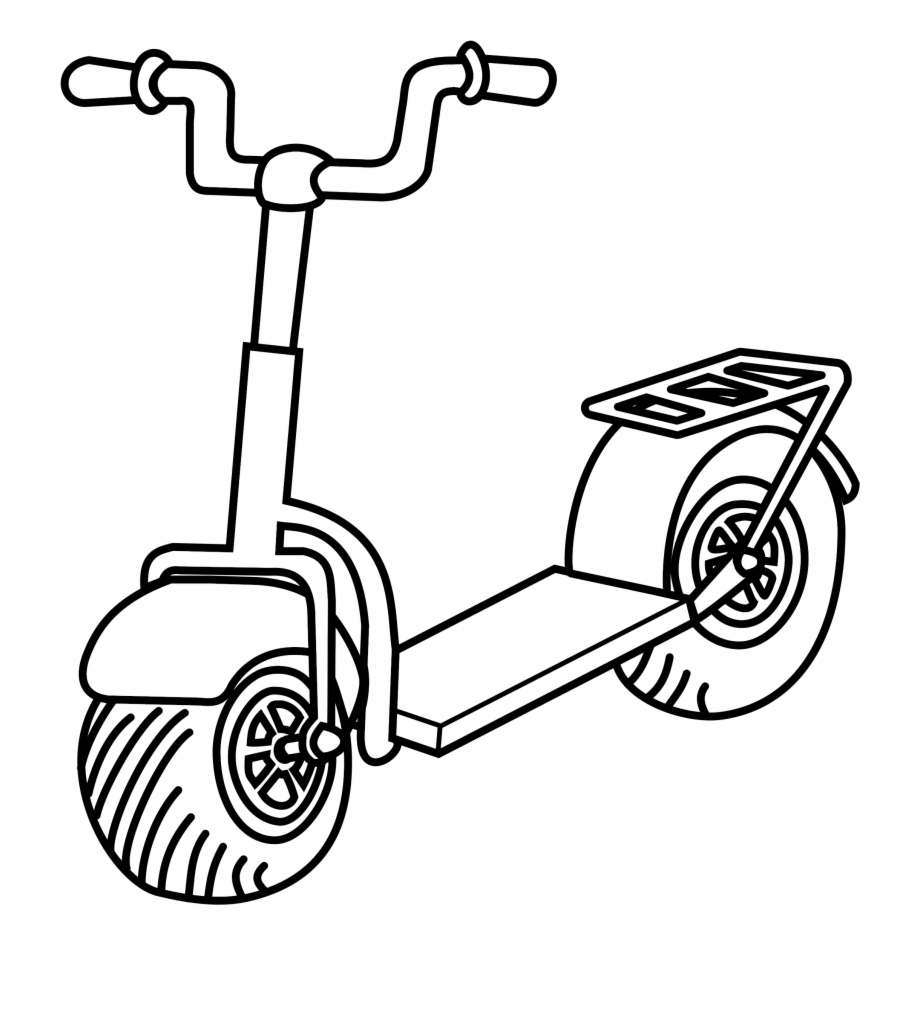 White scooter. Free clipart black and