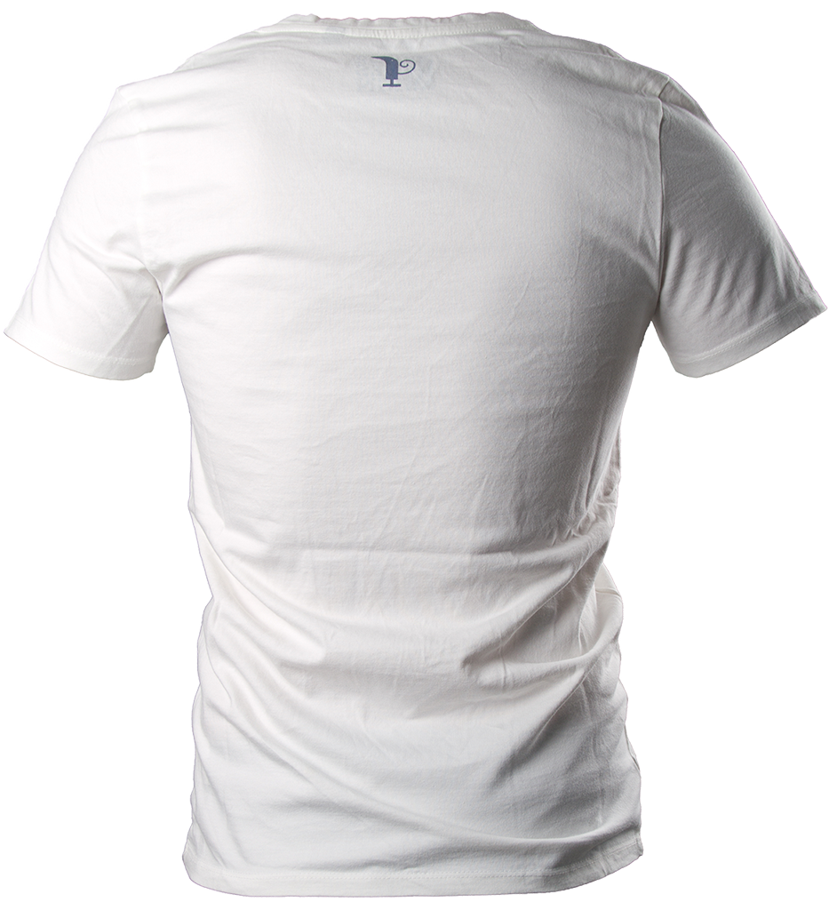 Back clipart back side. White pitico polo shirt