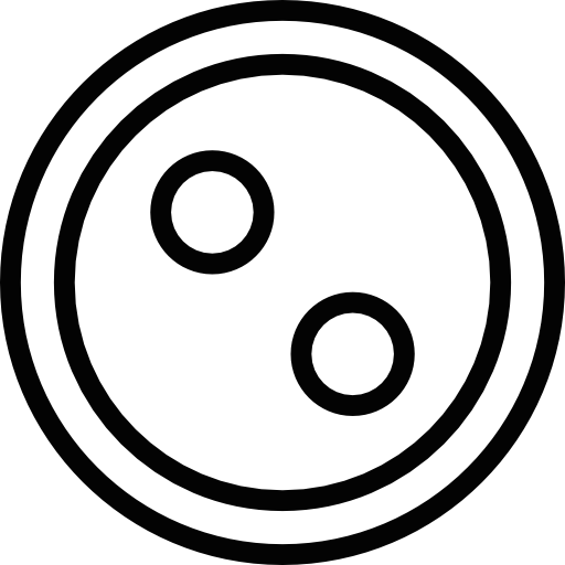 Shirt buttons png. Button with two holes