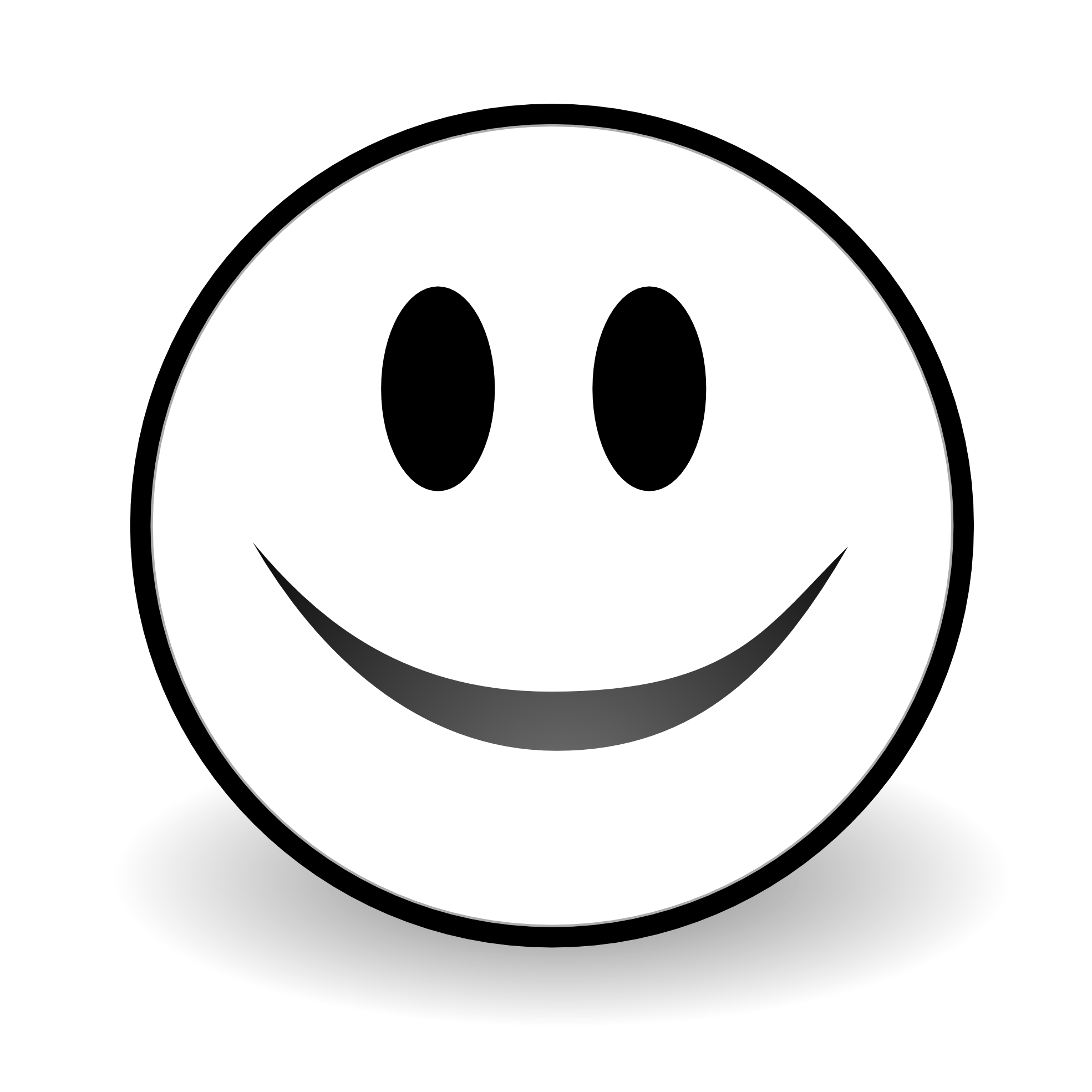 Black and white . Smiley clipart smile clip art library download