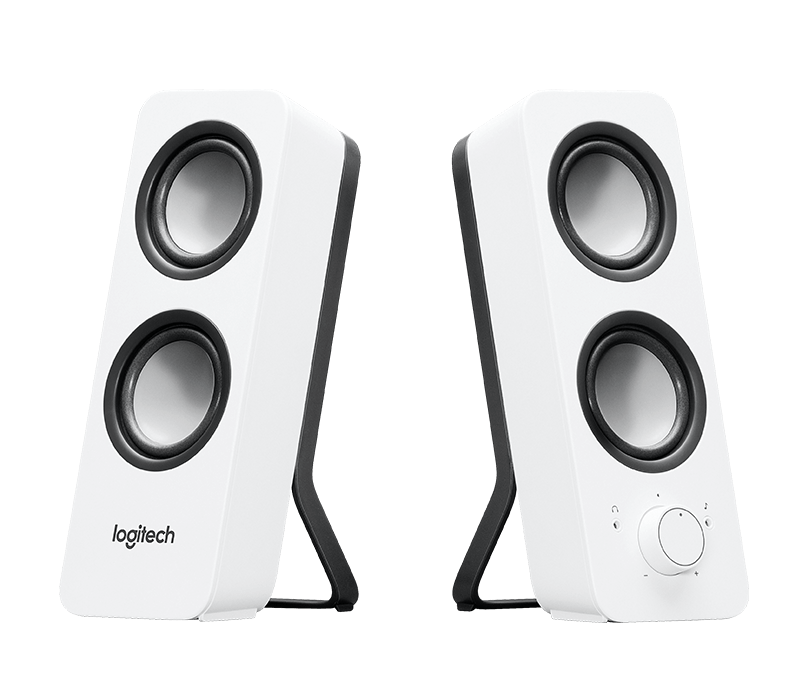 White speakers png. Logitech z stereo with