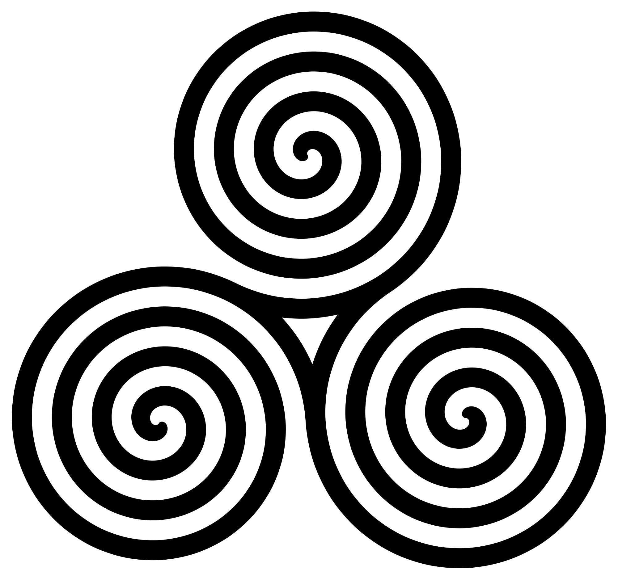 White spiral png. File triple symbol turns