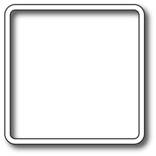 White photo frame png. Fit image inside stack
