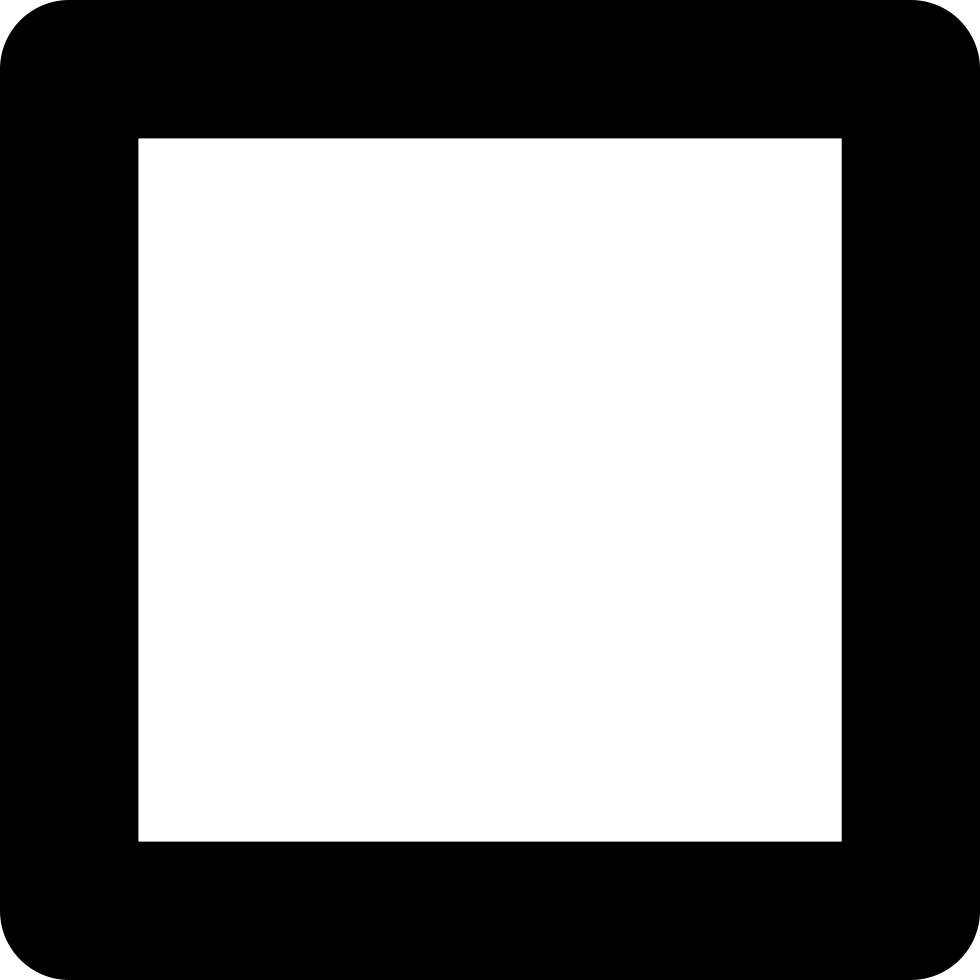 White square outline png. Of slightly rounded corners