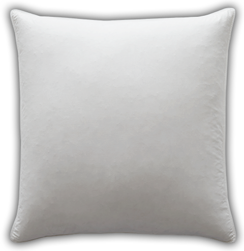 White square pillow png. Euro feather inserts pacific