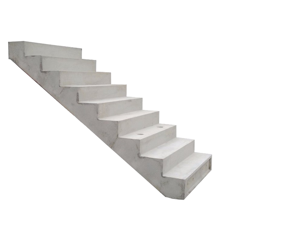 stairs transparent cement