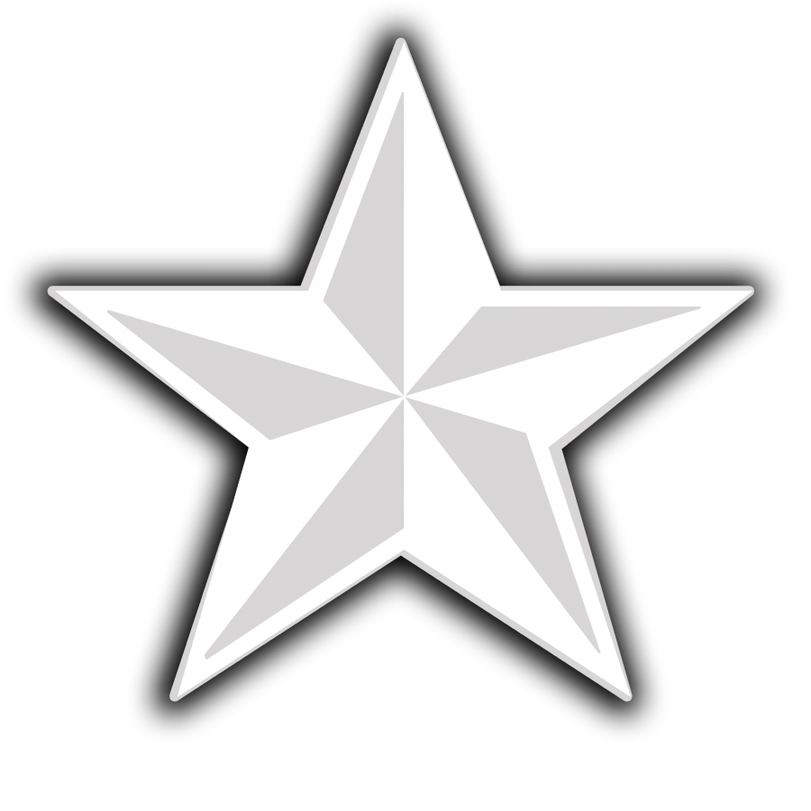 Star png vector. D white icon