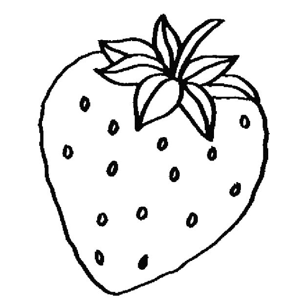 White strawberry. Clipart black and free