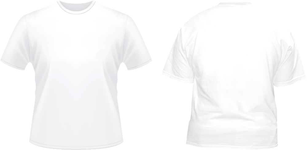 White t shirt template png. Front back tshirt psd