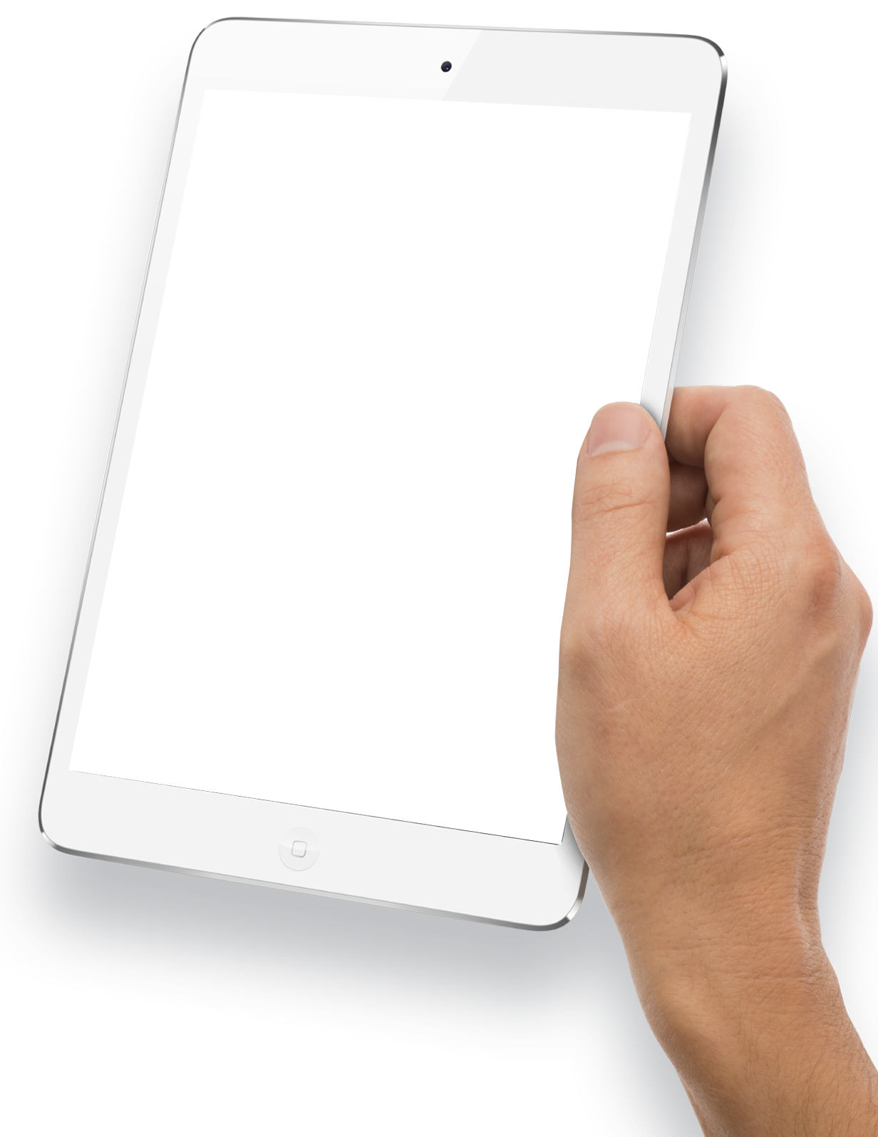 White tablet png. Hand holding image purepng