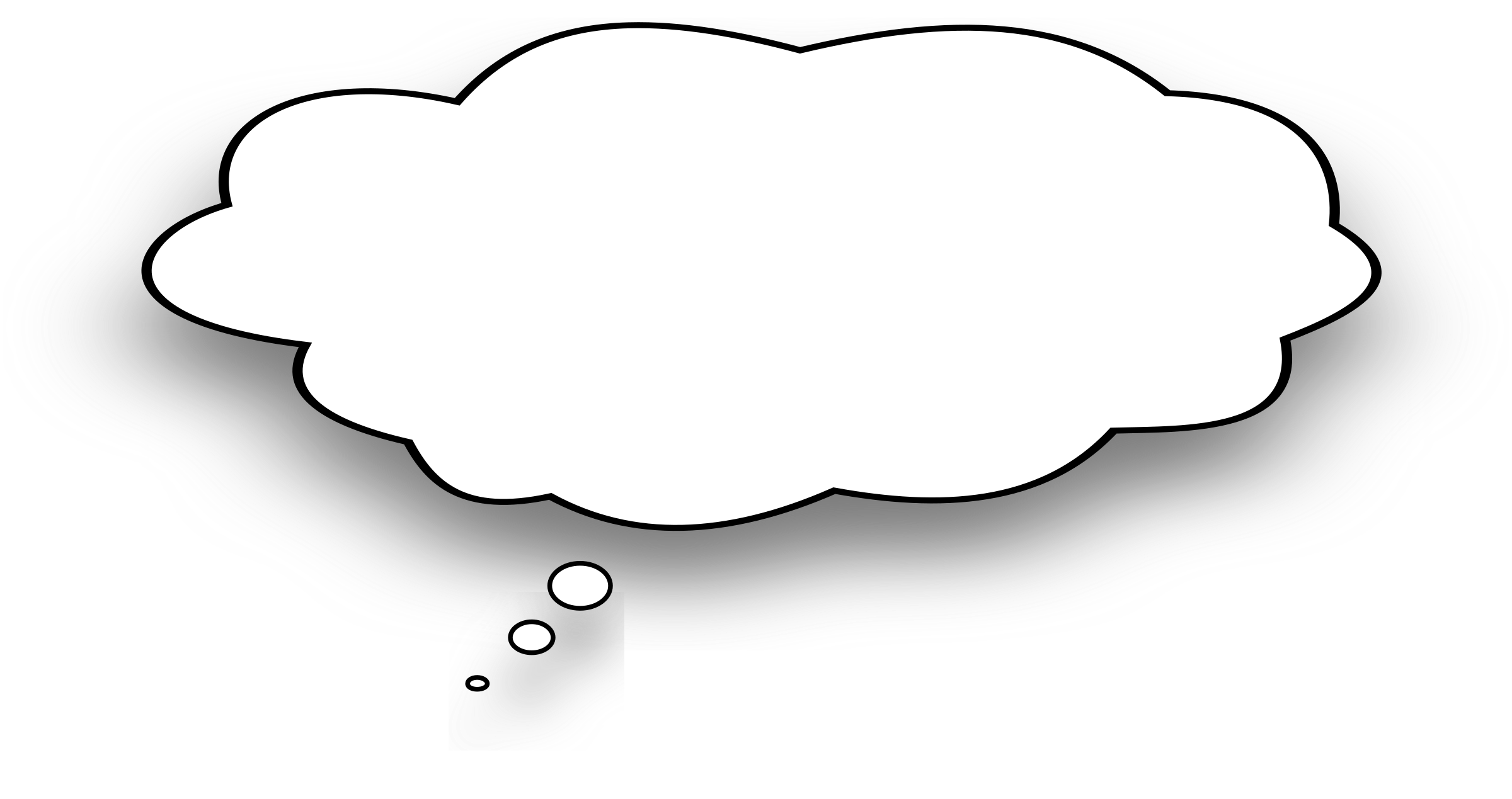 White thought bubble png. Clipart big image
