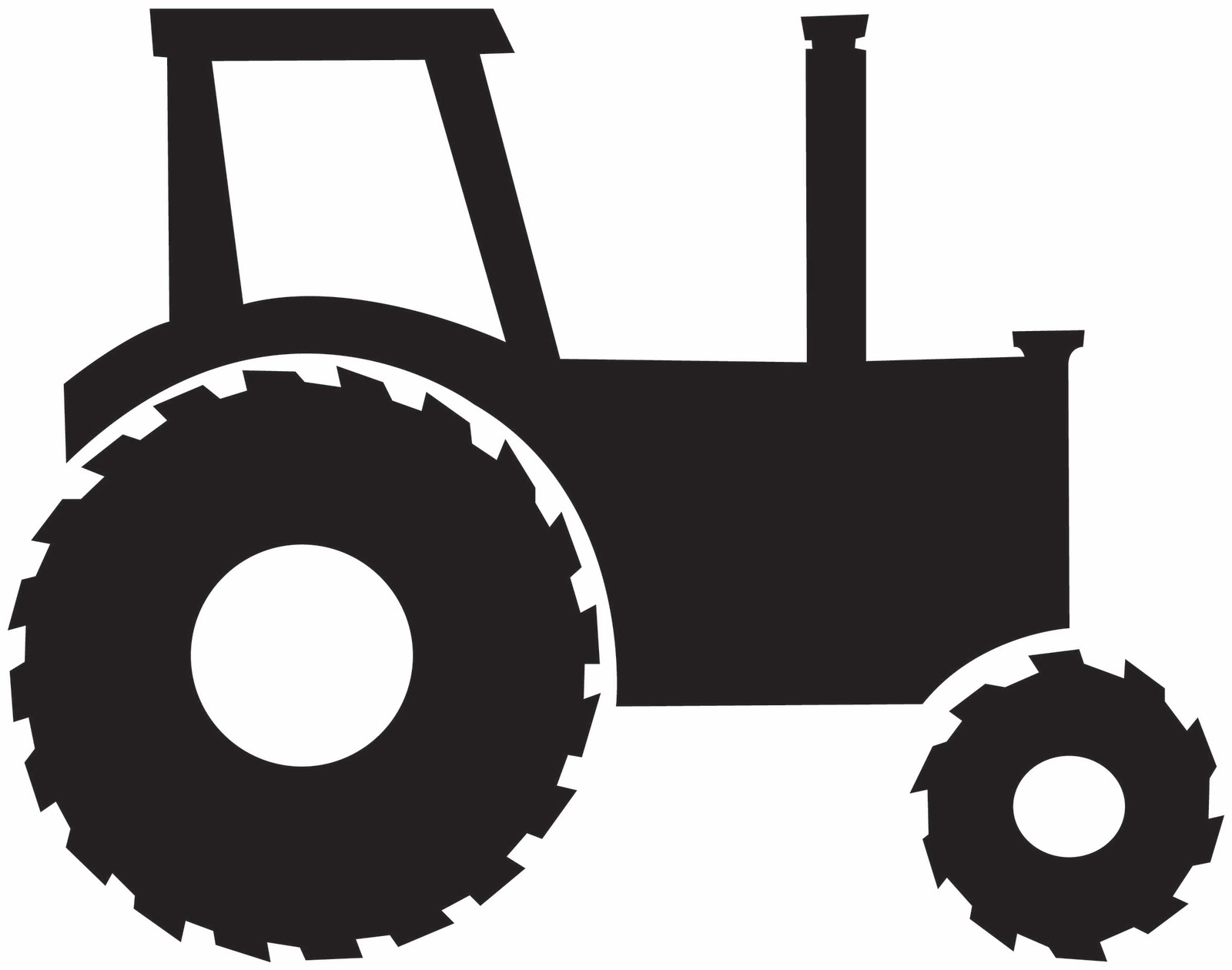 Large tractor. Free cliparts black download