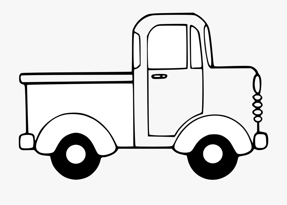 White truck. Car black and clipart
