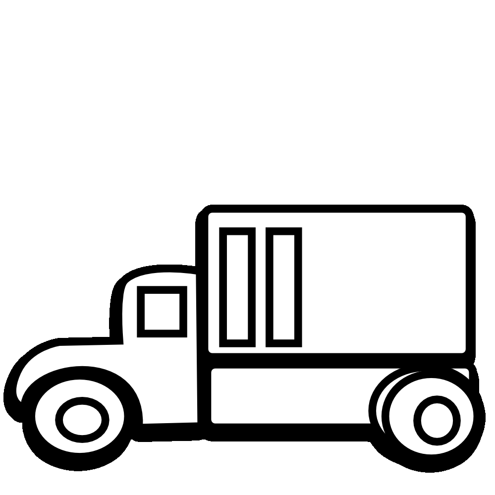 White truck. Free black and download
