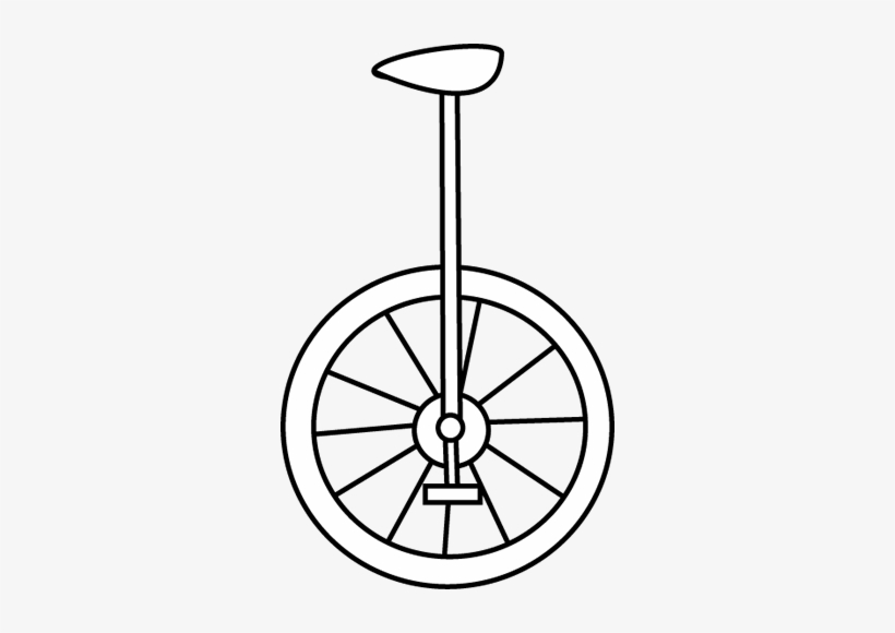White unicycle. Clipart black and vsco